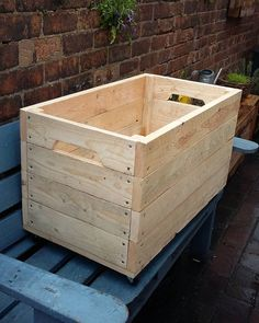 """XXL toybox on wheels. Made out of pallets. Pallet Creations UK. #pallet #pallets #wood #palletcreations #palletcreationsuk #palletwood #upcycle #upcycled…"""