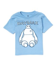 This Light Blue Big Hero 6 Baymax Sitting Tee - Toddler & Boys is perfect! #zulilyfinds