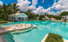 Private Paradise--In addition to the main house, there are five pavilions serving a host of different functions, including guest quarters and a tennis house (that features, what else? A simulated golf range), Celine Dion's Florida Water Park Mansion.