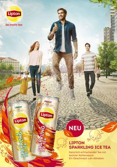 Für unseren Kunden Unilever lancierten wir in der Schweiz erfolgreich den «Lipton Sparkling Ice Tea».