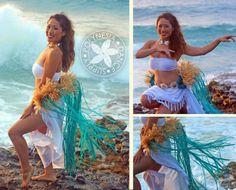 Tahitian Dance Costume Hau Hip Belt. Ahhhh!!!!! I love love love blue for the costumes!