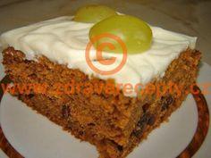 recept Anglický zdravý mrkvový koláč