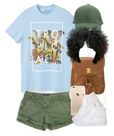 """Tropical. "" by livelifefreelyy ❤ liked on Polyvore featuring MANGO, J.Crew, Chanel, Vans and Lana"