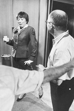 """Shirley MacLaine & Billy Wilder on the set of """"The Apartment"""""""
