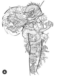 Dragon Tattoo Art, Dragons Tattoo, Dragon Tattoos For Men, Dragon Sleeve Tattoos, Japanese Dragon Tattoos, Japanese Tattoo Art, Japanese Tattoo Designs, Japanese Sleeve Tattoos, Dragon Tattoo Designs