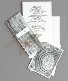 classy invites...no to mention pretty cheap with all that black ink!