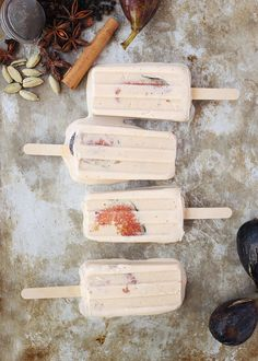 Chai Spiced Coconut Fig Popsicles are the ultimate sweet treat.