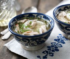 Use up leftover chicken carcasses in this recipe for a comforting bowl of chicken soup.
