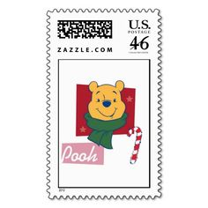 Winnie the Pooh Christmas Postage Stamps