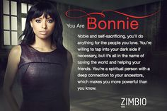 Which 'Vampire Diaries' Character Are You?  I did it on 2 different web sites an I still got Bonnie