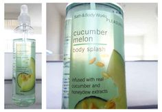 Spraying yourself with cucumber melon body spray — which you kept in the fridge on hot days.