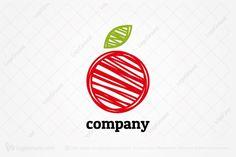 Logo for sale: Big Sketchy Apple Logo