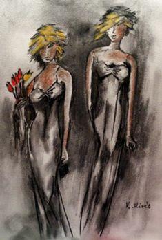 Barátnők. Techno, Painting, Art, Art Background, Painting Art, Kunst, Paintings, Performing Arts, Techno Music