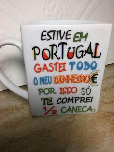 1/2 Cup Ceramic Coffee Tea Cocoa Mug From Portugal Euc
