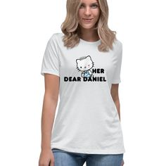Hello Kitty and Dear Daniel Couples Tee Officially Licensed Sanrio Hello Kitty Apparel Hello Kitty T Shirt, Couple Tees, Sanrio Hello Kitty, Star Designs, Tee Design, Sweater Hoodie, T Shirts For Women, Hoodies, Sweaters