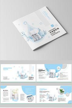 Complete set of water purifier Brochure design and layout Brochure Layout, Corporate Brochure, Corporate Design, Brochure Design, Layout Template, Brochure Template, Flyer Template, Templates, Water Branding