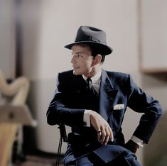 """iamdinomartins: """"""""Frank Sinatra photographed in the studio by Sid Avery. """" """""""