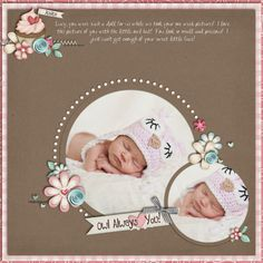 So precious! scrapbook page