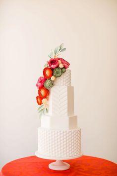 Modern wedding cake                                                       …