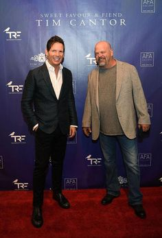 "Imagine Dragons and ""Pawn Stars"" Rick Harrison attend Artist Tim Cantor's Las Vegas Art Exhibit at AFA Gallery (Photo credit: Denise Truscello / WireImage)."