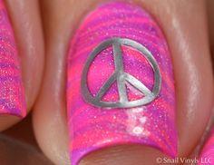 Peace Sign Nail Decal Macro