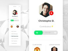 Hey dribbblers, Hope you're enjoying the World Cup and supporting your country as well ;) This is the early stage of a new interface i'm working on for a Football UI. - Find attached a bigger vie...