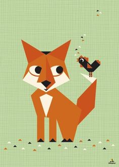 fox and birdie