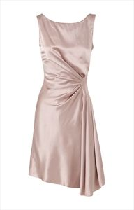 Such a Carrie Bradshaw dress! We adore this Pink Satin Cocktail Dress, it's so chic!