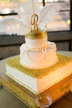1920's Inspired Wedding Cake http://www.astorianevents.com/