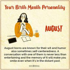 Birth Month Personality, Make You Smile, Self, Entertaining, Memories, Humor, Memoirs, Souvenirs, Humour
