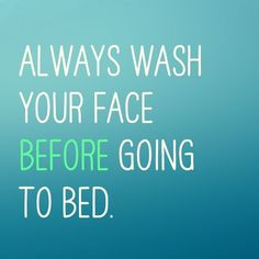 Skin care tip Thursday: No matter how tired you are or how tempting it is to skip washing, do it anyways. Makeup of any form deprives your skin of oxygen and clogs your pores leading to blackheads and blemishes. Not to mention think about all of the dirt,