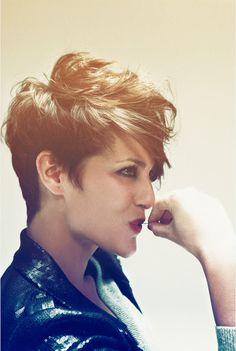 messy short hair :)