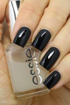 grape fizz nails: Matte and Shiny #nail #nails #nailart #unha #unhas #unhasdecoradas #preto #black