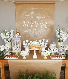 First holy communion dssert table