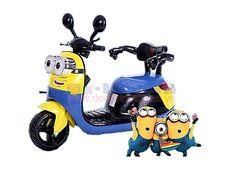 Xe máy điện trẻ em XG006 thiết kế dành cho các bé từ 2 tuổi trở lên, kiểu dáng Vespa cực sang chảnh. Thiết kế mô phỏng nhân vật minions trong series phim hoạt hình nổi...