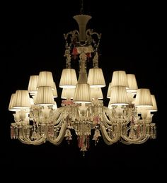 24 Light Mixed Tones Chandelier with Shades