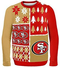 f31721337c2 Amazon.com   San Francisco 49ers Busy Block Ugly Sweater Large   Sports    Outdoors