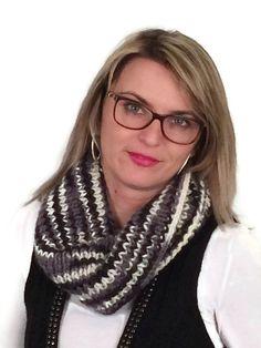 Col foulard écharpe snood tricoté main pour femme par RBlook