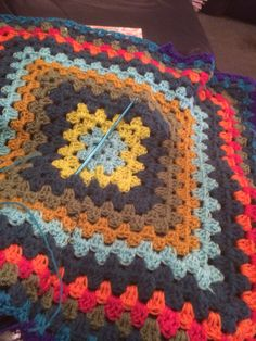 Giant granny square is growing