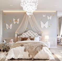 Love every detail about this beautiful kid's bedroom! Luxury Kids Bedroom, Bedroom For Girls Kids, Room Design Bedroom, Big Girl Bedrooms, Kids Bedroom Designs, Cute Bedroom Ideas, Cute Room Decor, Home Room Design, Room Ideas Bedroom
