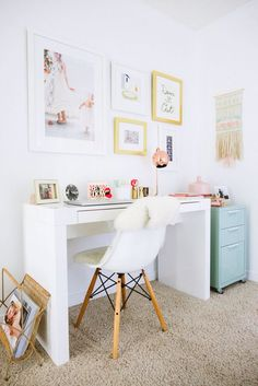 You won't mind getting work done with a home office like one of these. See these 20 inspiring photos for the best decorating and office design ideas for your home office, office furniture, home office ideas Home Office Design, Home Office Decor, Office Furniture, Home Design, Interior Design, Home Decor, Office Ideas, Design Ideas, Furniture Plans