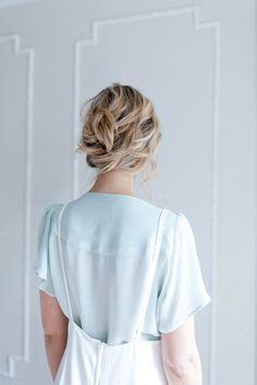 Really simple updo #wedding #hair