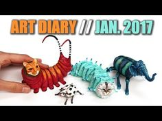 Artworks of January 2017 // Art Diary, Vlog... Thing