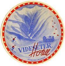 Videseter Hotel - STRYN / NORWAY - Scarce Old SKI Label