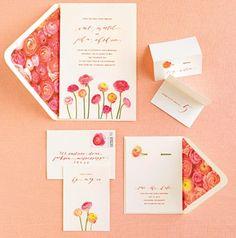 Spring invites - love the envelopes
