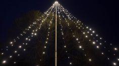 LED jouluvalot lipputankoon - LED lights for Xmas and flag pole