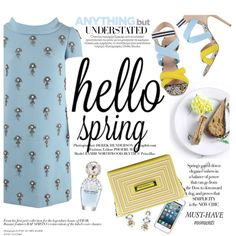 hello Spring by punnky on Polyvore featuring polyvore, fashion, style, Oscar de la Renta, MSGM and Marc Jacobs