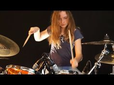 Pinball Wizard (The Who); drum cover by Sina Girl Drummer, Female Drummer, Drum Solo, Drum Music, Claire Ryann, Drums Girl, Drums Sheet, Pinball Wizard, Keith Moon