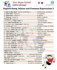 English #slang, #idioms, #common #expressions, #useful #phrases, #yourskypeschool material 1