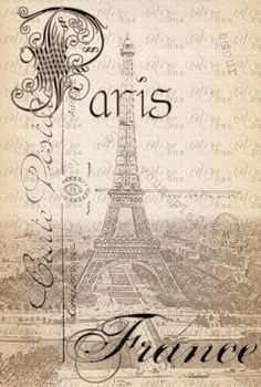 Vintage Paris...Olive Rue card background